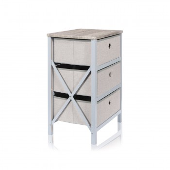 Makika Foldable Chest of drawers with 3 Drawers in Grey Makika Foldable Chest of drawers with 3 Drawers in Grey – Bild 4