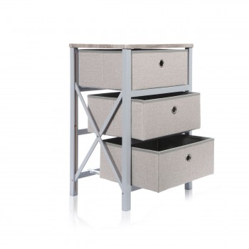Makika Foldable Chest of drawers with 3 Drawers in Grey Makika Foldable Chest of drawers with 3 Drawers in Grey – Bild 5