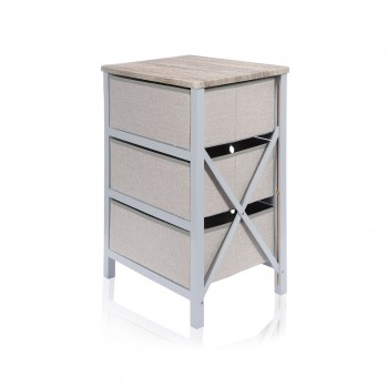 Makika Foldable Chest of drawers with 3 Drawers in Grey Makika Foldable Chest of drawers with 3 Drawers in Grey – Bild 6