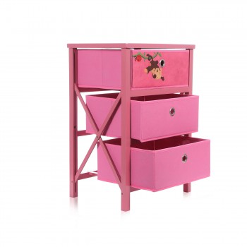 Makika Foldable Chest of drawers with 3 Drawers for Children in Dark red – Bild 5