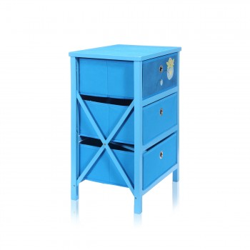 Makika Foldable Chest of drawers with 3 Drawers for Children in Blue – Bild 4