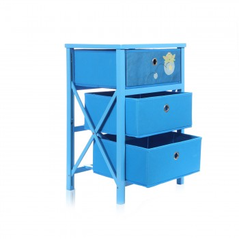 Makika Foldable Chest of drawers with 3 Drawers for Children in Blue – Bild 5
