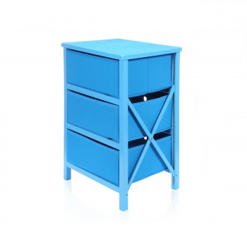 Makika Foldable Chest of drawers with 3 Drawers for Children in Blue – Bild 6