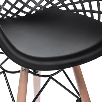 Makika Design Retro Dining Chair Set of 4 - SARA in Black – Bild 9