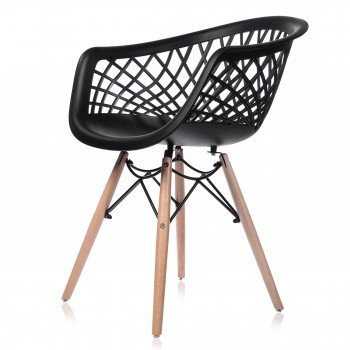 Makika Design Retro Dining Chair Set of 4 - SARA in Black – Bild 4