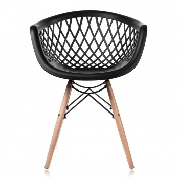 Makika Design Retro Dining Chair Set of 4 - SARA in Black – Bild 5