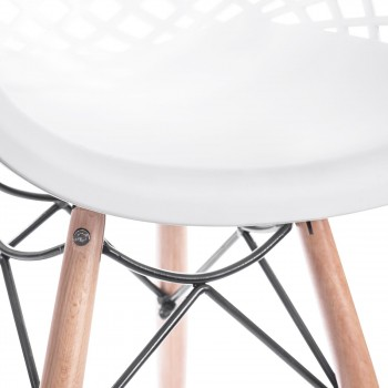 Makika Design Retro Dining Chair Set of 4 - SARA in White – Bild 9