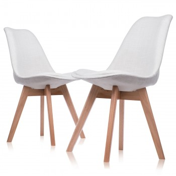 Makika Design Retro Dining Chair Set of 4 - ZURA CREAM – Bild 3