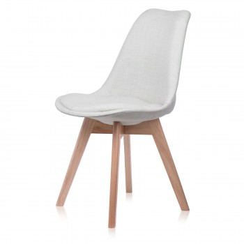 Makika Design Retro Dining Chair Set of 4 - ZURA CREAM – Bild 5