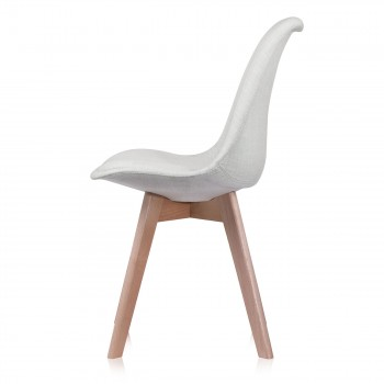 Makika Design Retro Dining Chair Set of 4 - ZURA CREAM – Bild 6