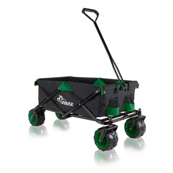 SAMAX Foldable Hand Cart Offroad - Black / Green – Bild 1