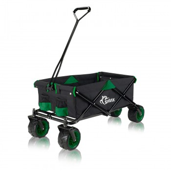 SAMAX Foldable Hand Cart Offroad - Black / Green – Bild 3