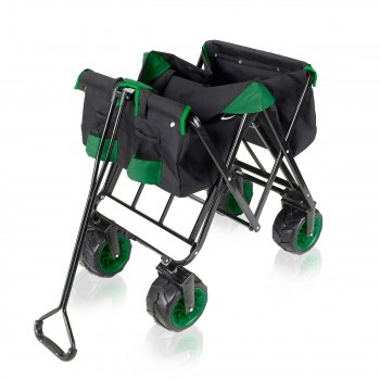 SAMAX Foldable Hand Cart Offroad - Black / Green – Bild 9