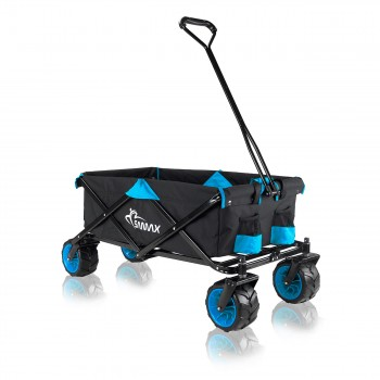 SAMAX Foldable Hand Cart Offroad - Black / Blue – Bild 1