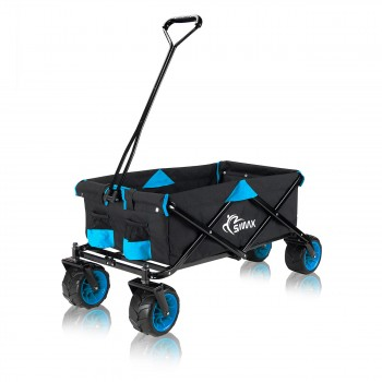 SAMAX Foldable Hand Cart Offroad - Black / Blue – Bild 3