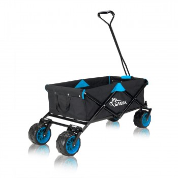 SAMAX Foldable Hand Cart Offroad - Black / Blue – Bild 5