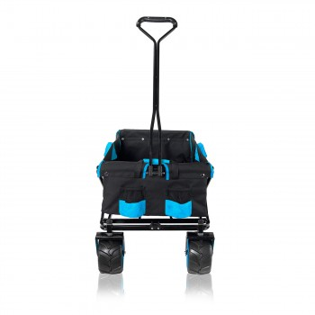 SAMAX Foldable Hand Cart Offroad - Black / Blue – Bild 7