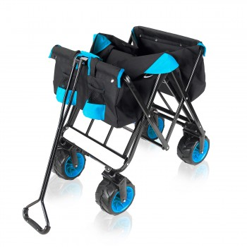 SAMAX Foldable Hand Cart Offroad - Black / Blue – Bild 9