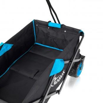 SAMAX Foldable Hand Cart Offroad - Black / Blue – Bild 8