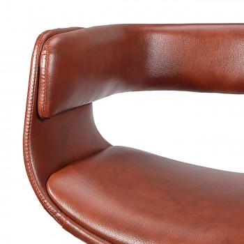 MY SIT Office Swivel Stool with backrest - Francis in Brown – Bild 9