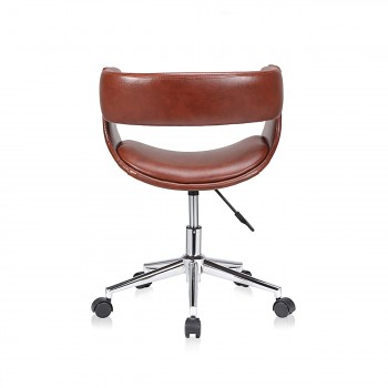 MY SIT Office Swivel Stool with backrest - Francis in Brown – Bild 4