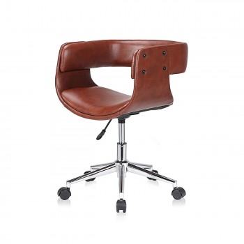 MY SIT Office Swivel Stool with backrest - Francis in Brown – Bild 3