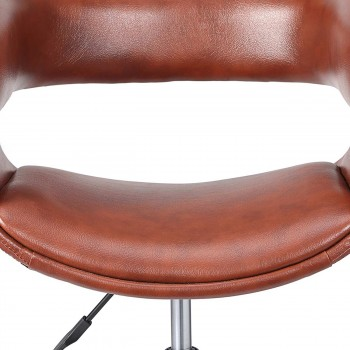 MY SIT Office Swivel Stool with backrest - Francis in Brown – Bild 10