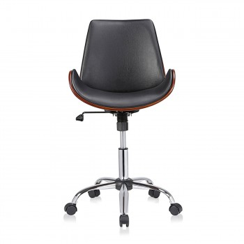 MY SIT Office Swivel Stool with backrest - Constance in Black/Brown – Bild 2