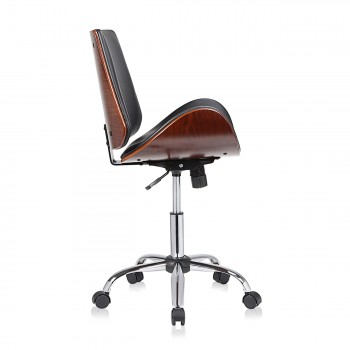 MY SIT Office Swivel Stool with backrest - Constance in Black/Brown – Bild 6