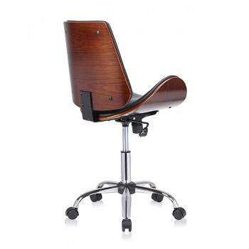 MY SIT Office Swivel Stool with backrest - Constance in Black/Brown – Bild 5
