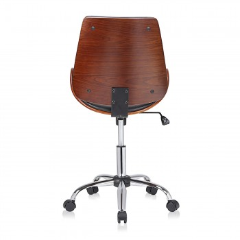 MY SIT Office Swivel Stool with backrest - Constance in Black/Brown – Bild 4