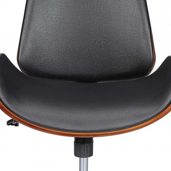 MY SIT Office Swivel Stool with backrest - Constance in Black/Brown – Bild 10