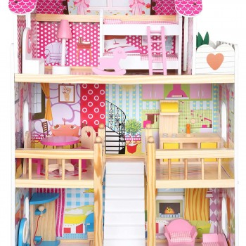 Baby Vivo Wooden Doll House Rosalie with Accessories – Bild 9