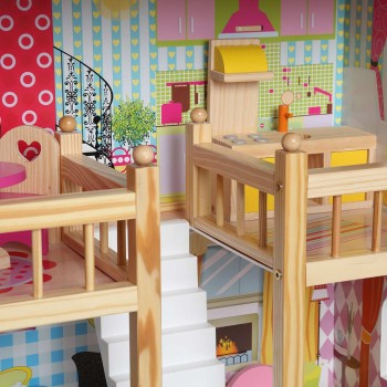 Baby Vivo Wooden Doll House Rosalie with Accessories – Bild 10