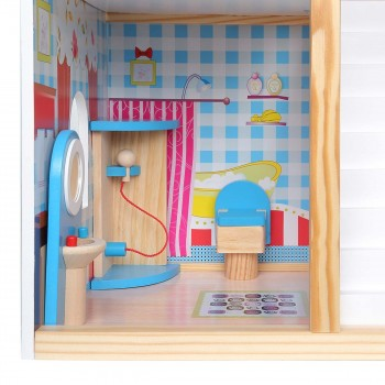 Baby Vivo Wooden Doll House Rosalie with Accessories – Bild 13