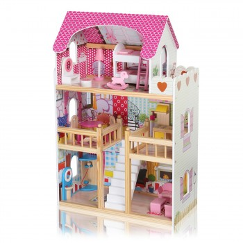 Baby Vivo Wooden Doll House Rosalie with Accessories – Bild 1