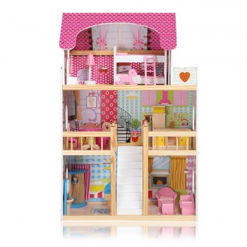Baby Vivo Wooden Doll House Rosalie with Accessories – Bild 2
