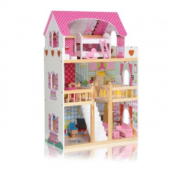 Baby Vivo Wooden Doll House Rosalie with Accessories – Bild 3