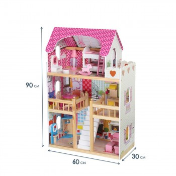 Baby Vivo Wooden Doll House Rosalie with Accessories – Bild 4