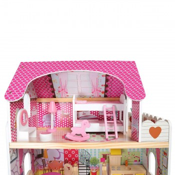 Baby Vivo Wooden Doll House Rosalie with Accessories – Bild 5