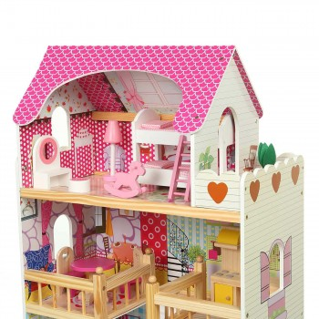 Baby Vivo Wooden Doll House Rosalie with Accessories – Bild 6