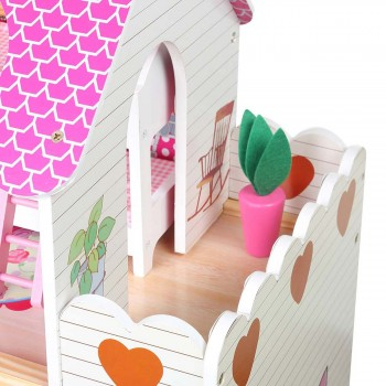 Baby Vivo Wooden Doll House Rosalie with Accessories – Bild 8