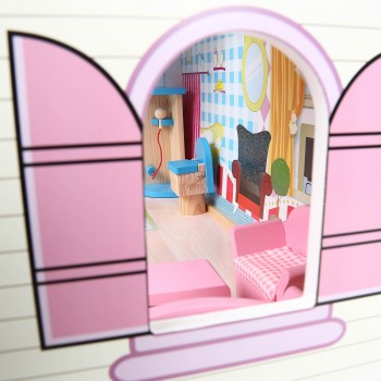 Baby Vivo Wooden Doll House Rosalie with Accessories – Bild 7