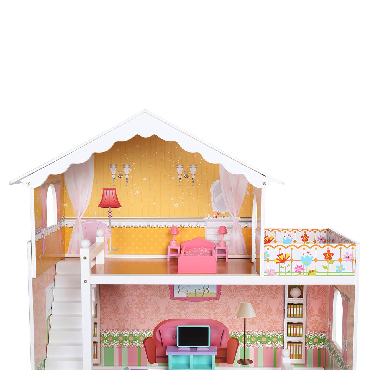 maison de poup e kit dollhouse miniature meubles chambe en. Black Bedroom Furniture Sets. Home Design Ideas