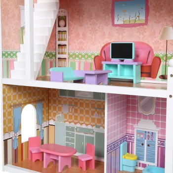 Baby Vivo Wooden Doll House Violetta with Accessories – Bild 12