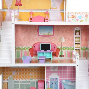 Baby Vivo Wooden Doll House Violetta with Accessories – Bild 13