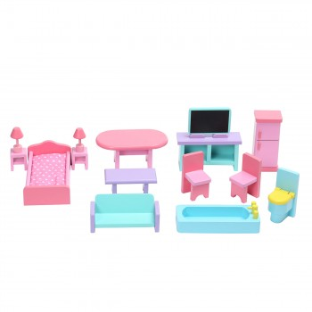 Baby Vivo Wooden Doll House Violetta with Accessories – Bild 14
