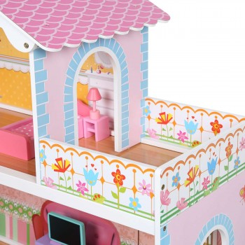 Baby Vivo Wooden Doll House Violetta with Accessories – Bild 7