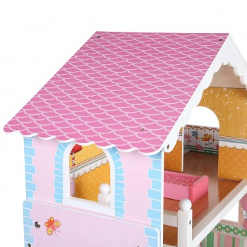 Baby Vivo Wooden Doll House Violetta with Accessories – Bild 8