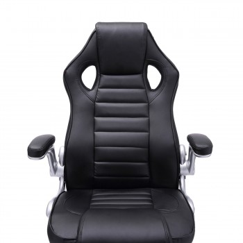 MY SIT Office Chair Racing in Black V10 Synthetic Leather – Bild 12